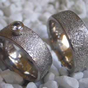 gold dust wedding bands